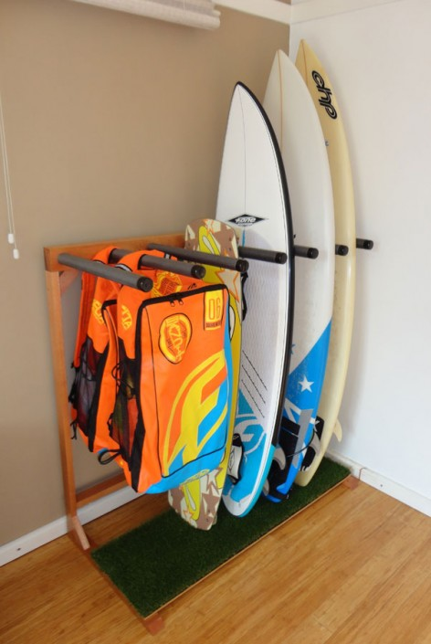 Surfboard Rack with Boards & Kites - Sealed