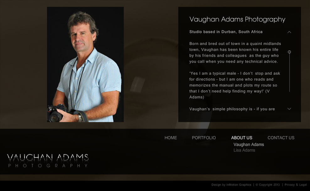 Vaughan Adams | About